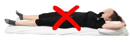 mauvaise position sommeil sur le dos