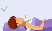 sommeil dos bon alignement cou